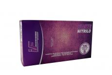 Guante Nitrilo Color Lila Talla S 6 1/2 Caja Con 100 Unidades