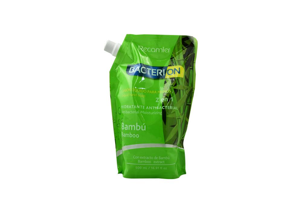 Jabón Bacterion Líquido Con Extracto De Bambú Doypack Con 500 mL