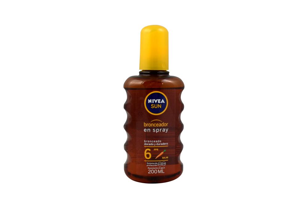Bronceador Nivea En Spray Con Vitamina E Frasco Con 200 mL