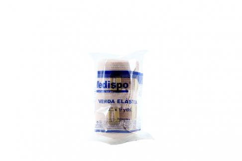 Venda Elástica Medispo 3 X 5 Yardas - Desechables Hipoalergénico