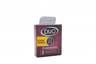Condones Duo G Sensation Caja Con 3 Unidades