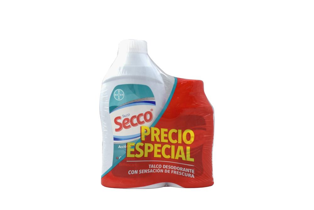 Talco Desodorante Secco Frasco Con 150 g + Frasco Con 90 g