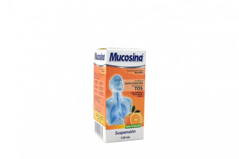 Mucosina Suspensión Caja Con Frasco X 120  mL