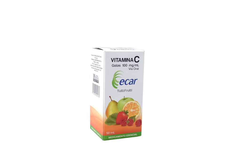 Vitamina C Ecar Gotas 100 mg / mL Caja Con Frasco Con 50 mL