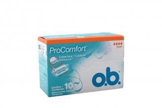 Tampón O.B Procomfort Caja Con 10 Unidades