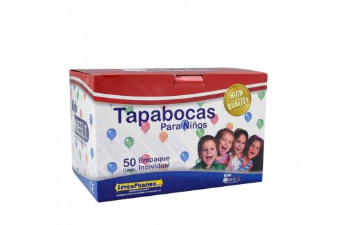 Tapabocas Niño Empaque Individual Begut Caja X 50 Unds / Sevenpharma