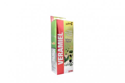 Veramiel Pastillas Sabor Lyptus Caja Con 25 Sobres Con 4 Unidades C/U