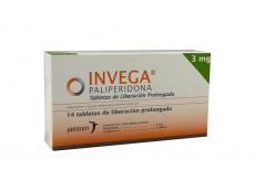 Invega 3 mg Caja Con 14 Tabletas De Liberación Prolongada Rx4