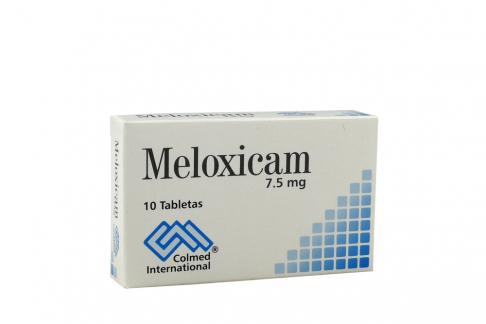 Meloxicam 7,5 mg Caja Con 10 Tabletas Rx