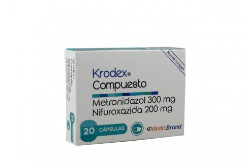 Krodex Compuesto 300 / 200 mg  Caja Con 20 Cápsulas Rx2