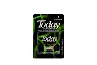 Condones Today Sin Lubricar Empaque Con 3 Unidades