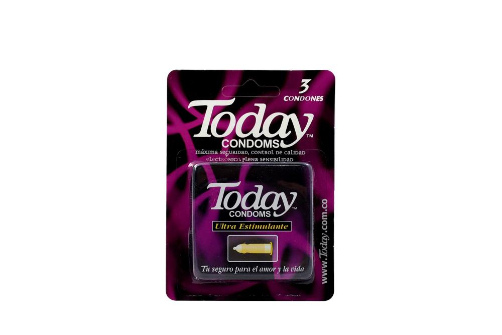 Condón Today Ultra Estimulante Empaque Con 3 Unidades