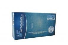 Guante Nitrillo Color Azul Talla M 7 1/2 Caja Con 100 Pares