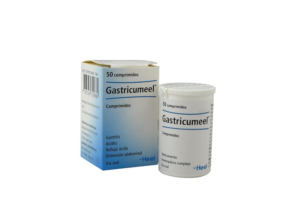 Gastricumeel Caja Con Frasco X 50 Tabletas RX