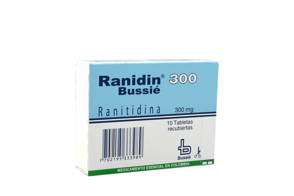 Ranidin 300 mg Caja Con 10 Tabletas Recubiertas Rx