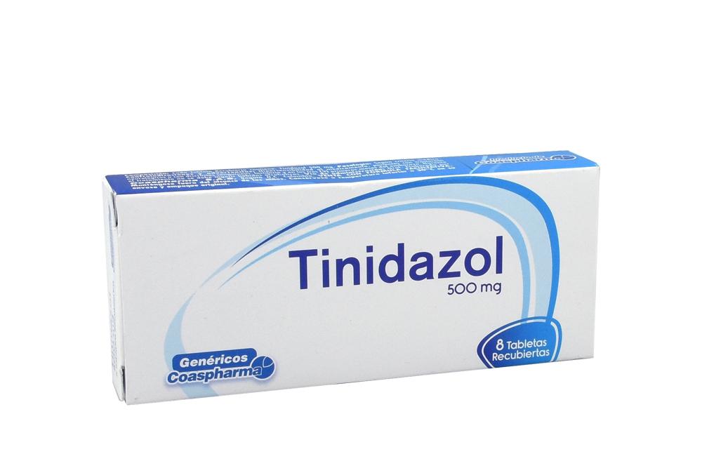 Tidinazol 500 mg Caja Con 8 Tabletas Recubiertas Rx2