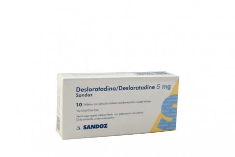 Desloratadina 5 mg Caja Con 10 Tabletas Recubiertas Rx