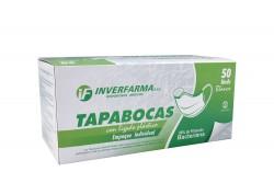Tapaboca Elástico Blanco Con Empaque Individual Caja Con 50 Unidades