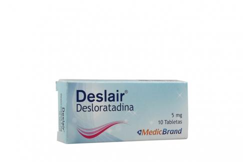 Deslair 5 mg Caja Plegadiza Con 10 Tabletas Rx