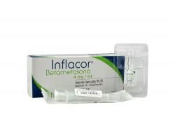 Inflacor 4 mg / mL Solución Inyectable Caja Con 1 Ampolla Rx