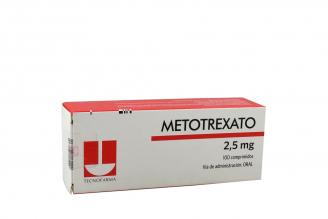 Metotrexato 2,5 mg Caja Con 100 Comprimidos Rx4