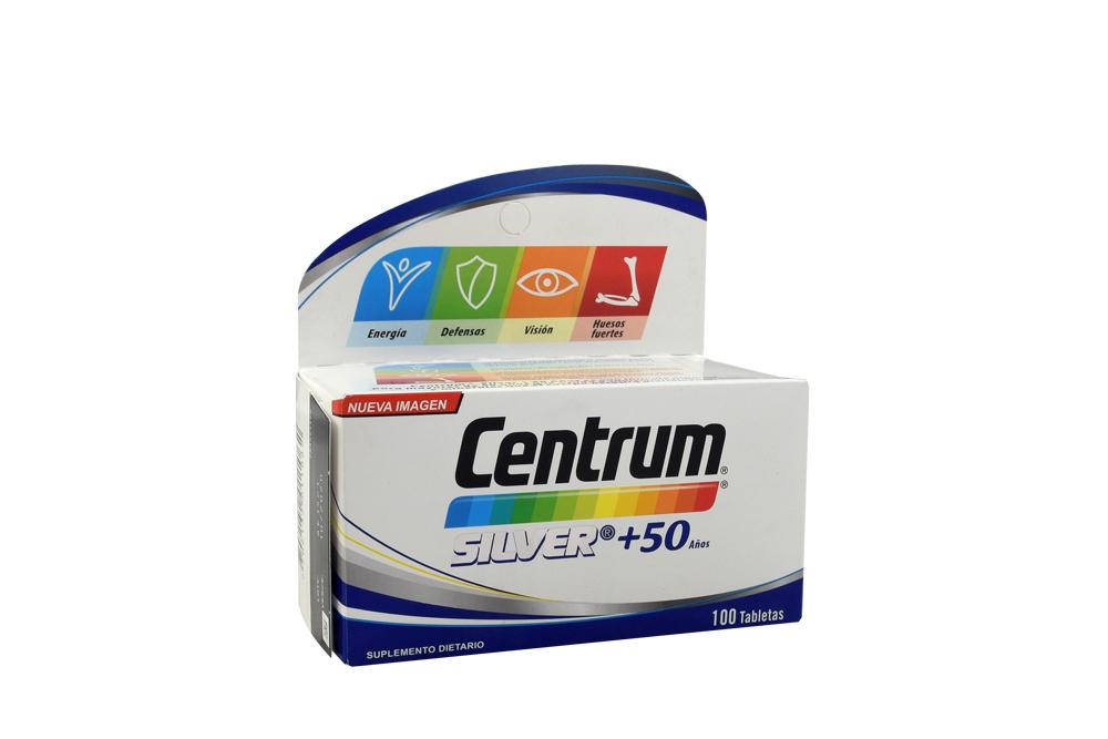 Centrum Silver +50 Años Caja Con 100 Tabletas