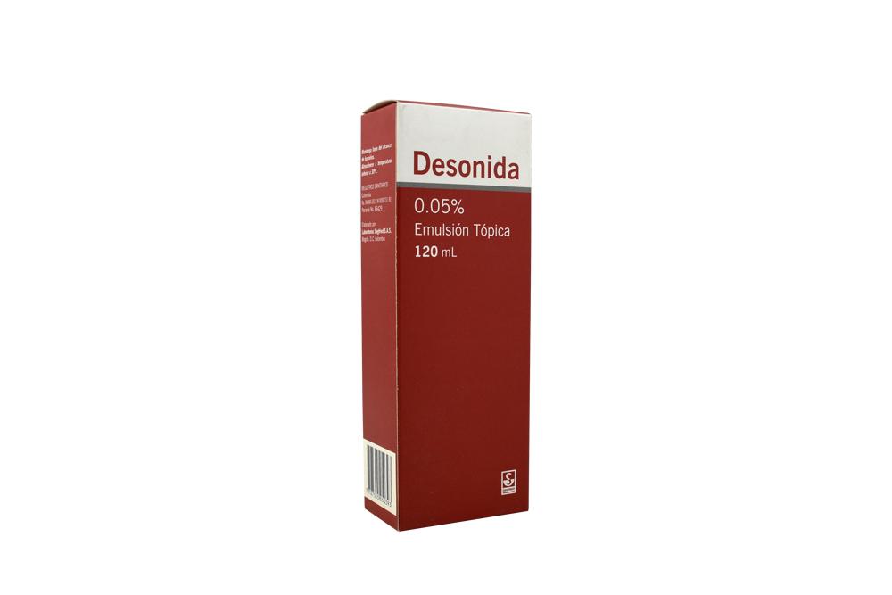 Desonida 0,05% Emulsión Tópica Frasco Con 120 mL Rx