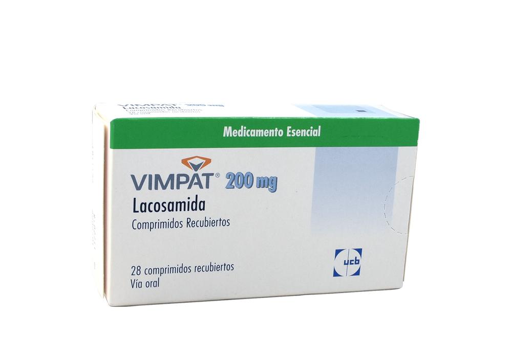 Vimpat 200 mg Caja Con 28 Comprimidos Recubiertos  Rx4