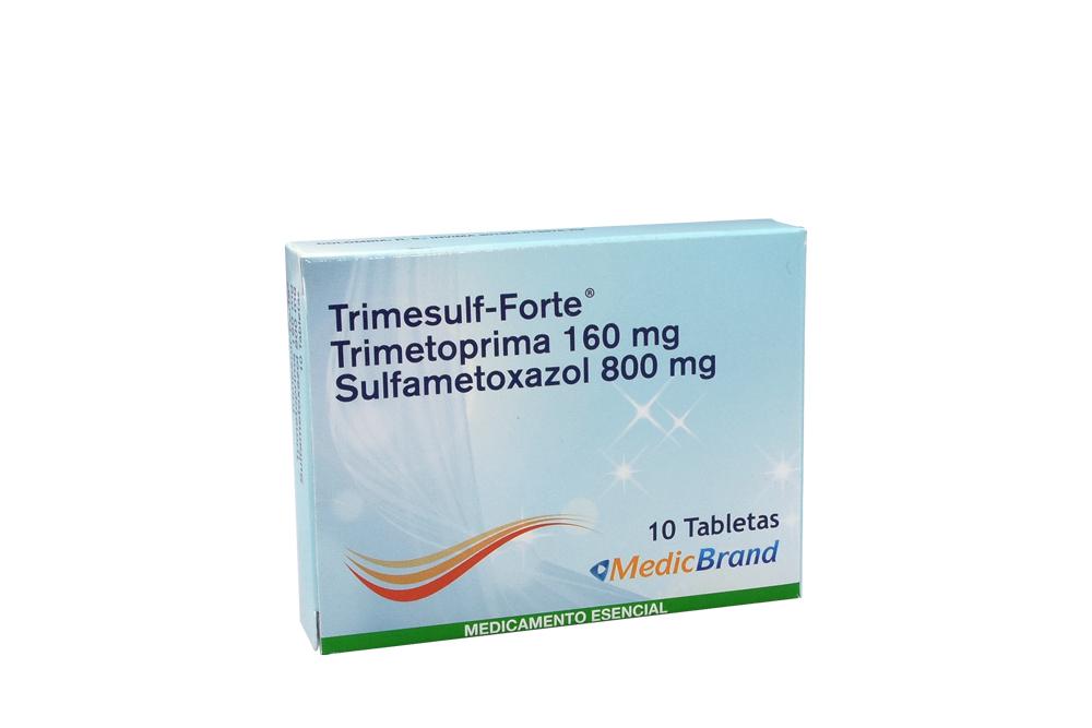 Trimesulf Forte 160 / 800 mg Caja Con 10 Tabletas Rx