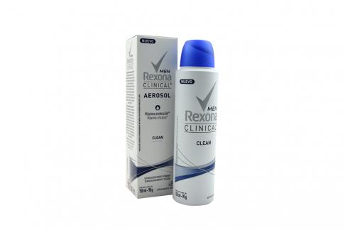 Desodorante Rexona Clinical Men Clean Aerosol Caja Con Frasco Con 150 mL