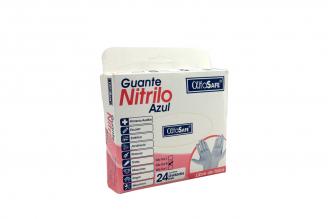 Guantes Nitrilo Azul AlfaSafe Talla M Caja Con 24 Unidades