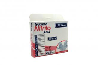 Guantes Nitrilo Azul AlfaSafe Talla S Caja Con 24 Unidades