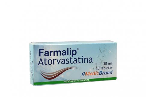 Farmalip 10 mg Caja Con 10 Tabletas Rx4