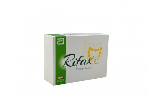 Rifax 550 mg Caja Con 28 Tabletas Recubiertas Rx