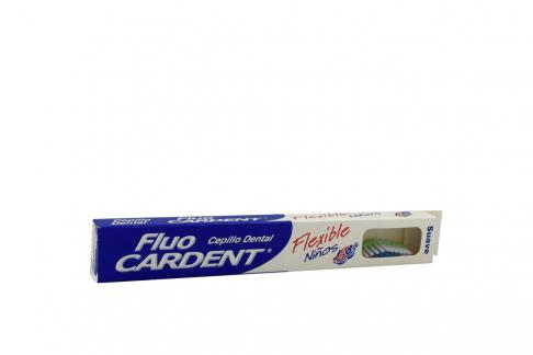 Cepillo Dental Fluocardent Flexible Para Niños Empaque Con 1 Unidad