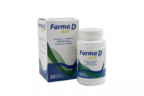 Farmadmag Magnesio + Vitamina C Sabor Cereza Caja Con 30 Tabletas