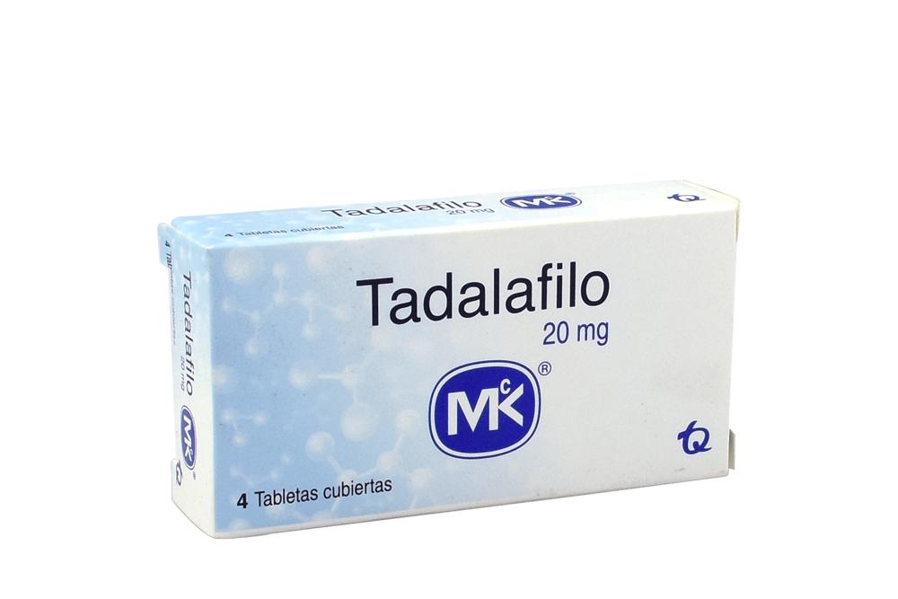 Tadalafilo MK 20 mg Caja Con 4 Tabletas Rx