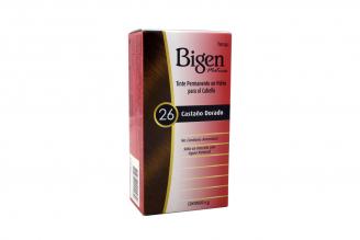 Bigen Tinte Permanente En Polvo Caja Con Frasco Con 6 g - Castaño
