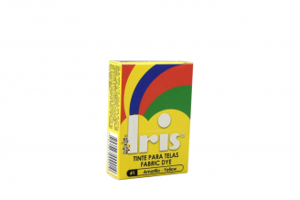 Iris Tinte Para Telas Caja Con Bolsa Con 9 g – Tono Número 1 Amarillo