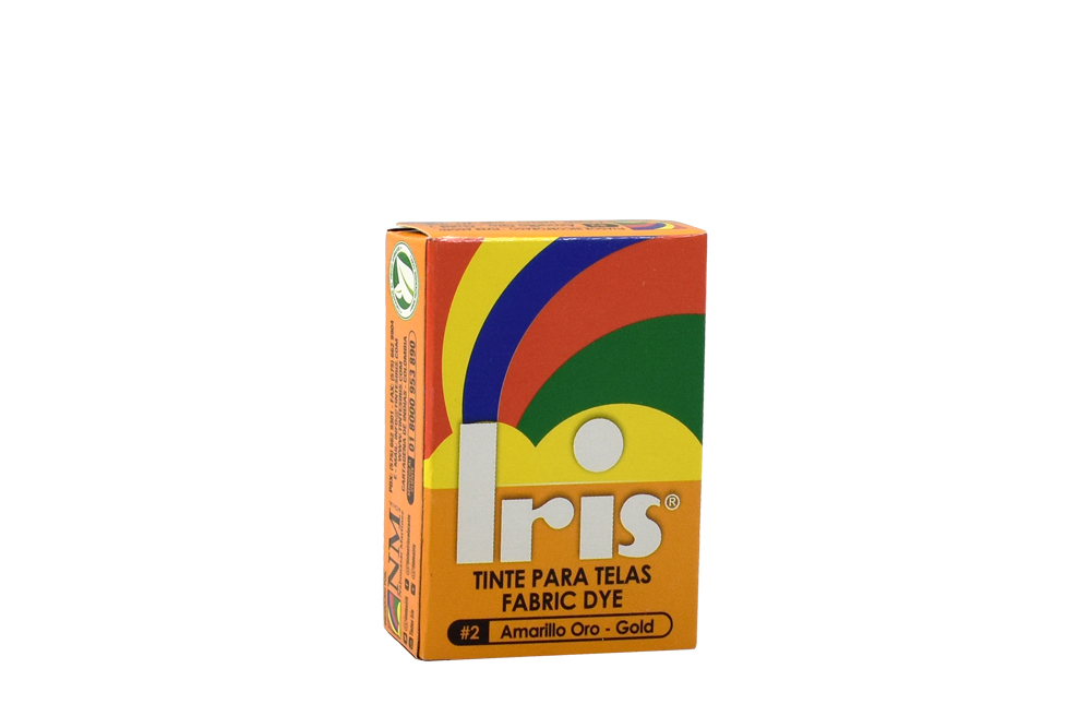 Iris Tinte Para Telas Caja Con Bolsa Con 9 g – Tono Número 2 Amarillo Oro