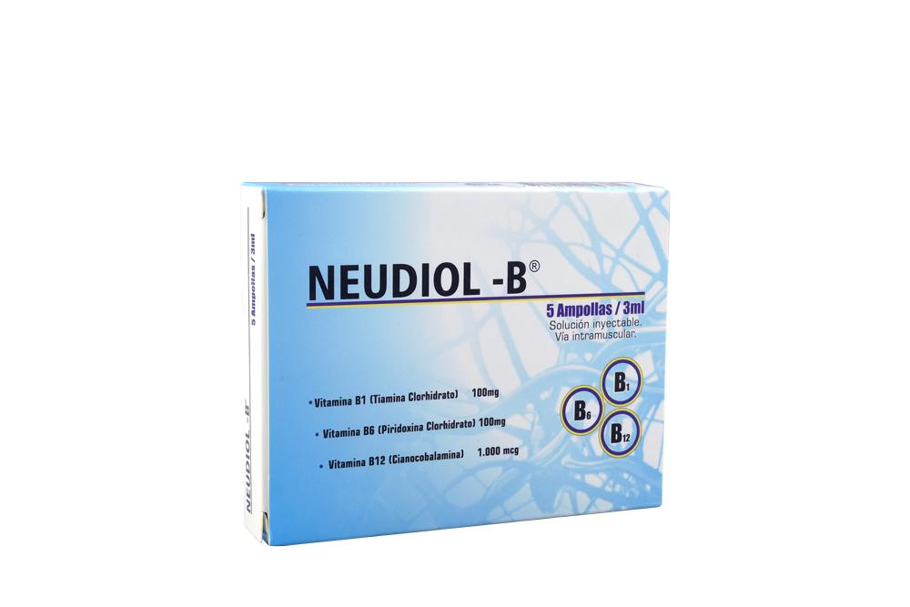 Neudiol-B Inyectable Caja Con 5 Ampollas Con 3 mL C/U