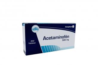 Acetaminofén Coaspharma 500 mg Caja Con 300 Tabletas