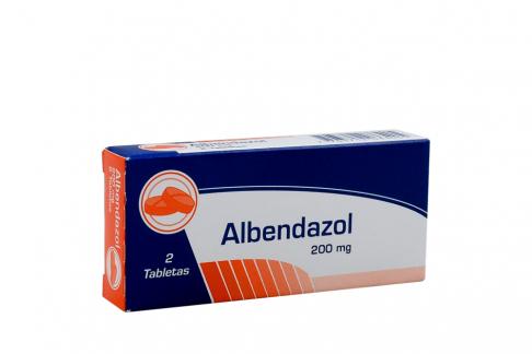 Albendazol 200 mg Caja Con 2 Tabletas Rx