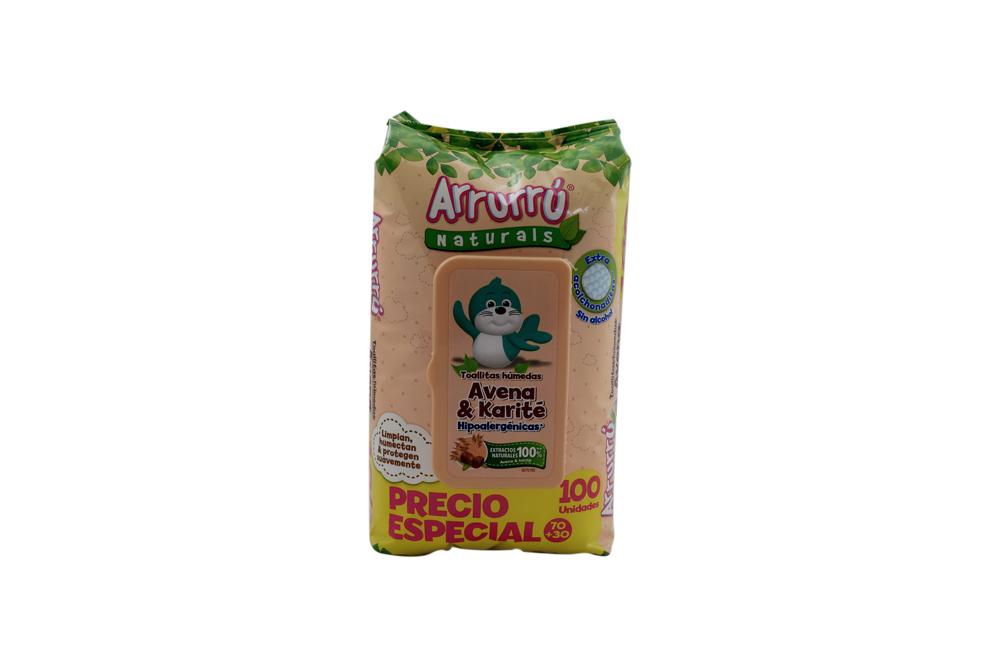 Toallitas Húmedas Arrurrú Avena & Karité Bolsa Con 100 Unidades – Extra Acolchaditas