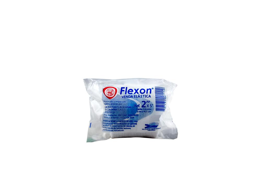 Venda Elástica Flexon 2 x 5 Yardas Empaque Con 1 Unidad