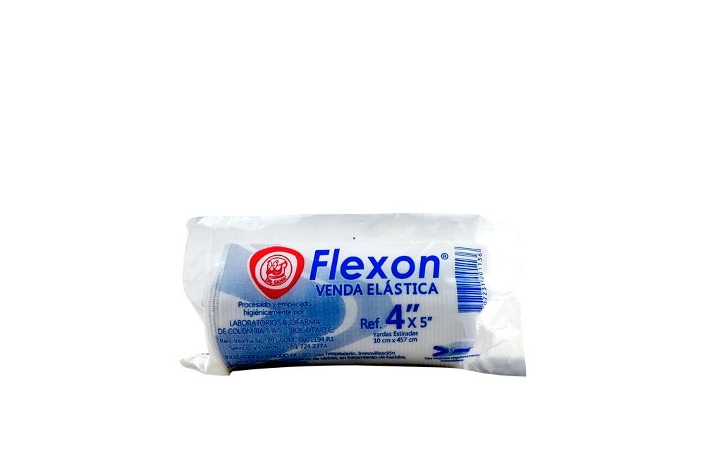 """Venda Elástica Color Blanco Flexon 4"""" x 5 Yardas Empaque Con 1 Unidad"""