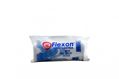 """Venda Elástica Color Blanco Flexon 5"""" x 5 Yardas Empaque Con 1 Unidad"""