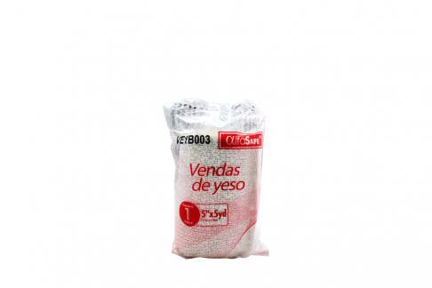 Venda De Yeso Alfa Safe 5 x 5 Yardas Empaque Con 1 Unidad
