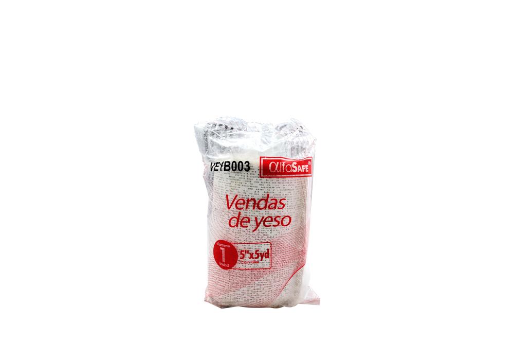 """Venda De Yeso Alfa Safe 5"""" x 5 Yardas Empaque Con 1 Unidad"""