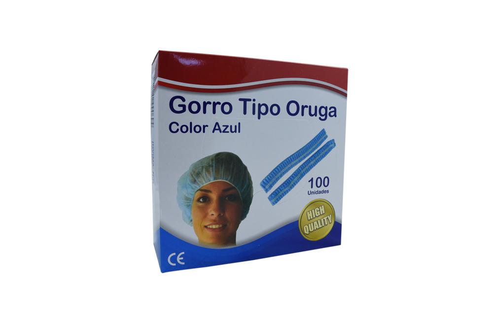 Begut Gorro Tipo Oruga Azul Caja Con 100 Unidades